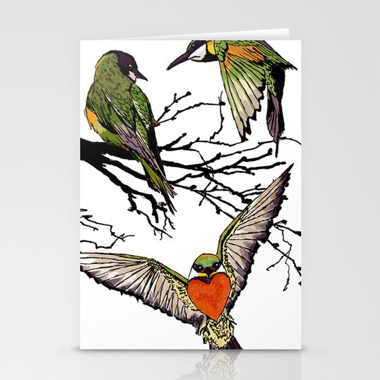 bee-eaters Stationery Card