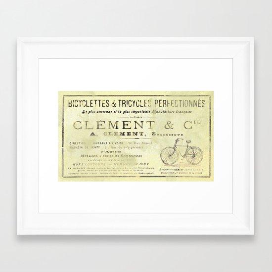 Bicyclette Framed Art Print