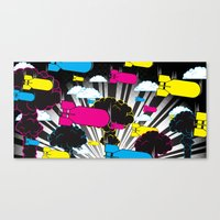 CMYKaBOOM! Canvas Print