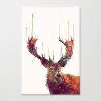Red Deer // Stag Canvas Print