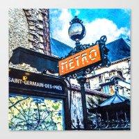 Paris Travel Diary 24 Canvas Print
