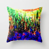 Intangible Forest Throw Pillow