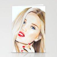 Rosie Huntington Whitele… Stationery Cards