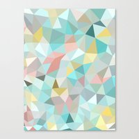 Pastel Tris Canvas Print