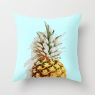 Summer Ananas Throw Pillow