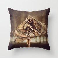 Dancerulean Throw Pillow