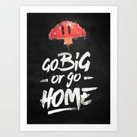 Go Big or Go Home Mario Inspired Smash Art Art Print