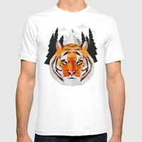 The Siberian Tiger Mens Fitted Tee White SMALL