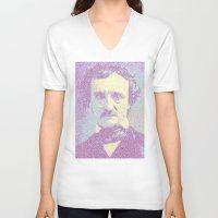 Edgar Allan Poe. Unisex V-Neck