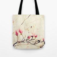 Spring Botanical - Tulip Tree, Magnolia × soulangeana Tote Bag