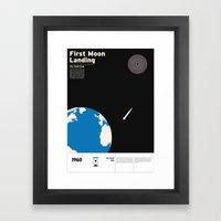 First Moon Landing Apoll… Framed Art Print
