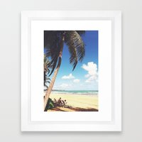 Palm Tree Paradise Framed Art Print