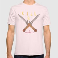 kill & romance Mens Fitted Tee Light Pink SMALL