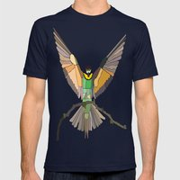 Bird Ripple  Mens Fitted Tee Navy SMALL