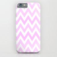 Pale Pink Textured Chevr… iPhone 6 Slim Case