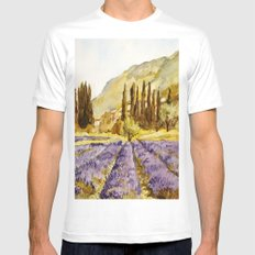 La Provence SMALL Mens Fitted Tee White