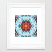 Geo Metrics 3 Framed Art Print