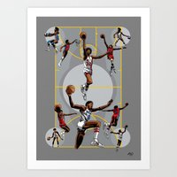 Dr. J; Illuminated Art Print