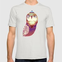 Purple Owl Mens Fitted Tee Silver SMALL