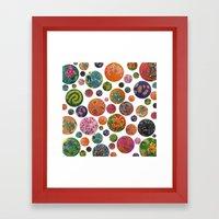 Petri Dish Polka Dot  Framed Art Print