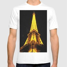 Eiffel in Love SMALL Mens Fitted Tee White