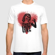 Zombie Love Mens Fitted Tee SMALL White