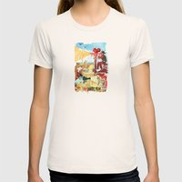 I HEART DESERT FILM Womens Fitted Tee Natural SMALL