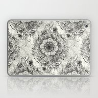 Messy Boho Floral In Cha… Laptop & iPad Skin