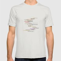 Word Inventions William Shakespeare Quote Art - Typography Mens Fitted Tee Silver SMALL