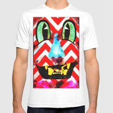 Boxface #2 White SMALL Mens Fitted Tee