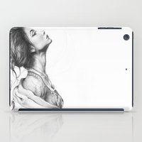 Pretty Lady Pencil Portrait Fashion Art iPad Case