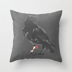 You've Got a Raven Throw Pillow