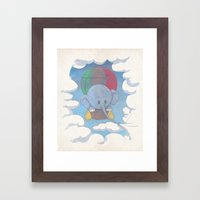 Elephant balloon Framed Art Print