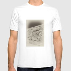 Yosemite Half Dome Hikers White SMALL Mens Fitted Tee