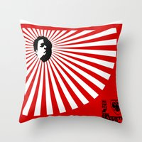 Unfinished Lights (The Face Collection) Throw Pillow