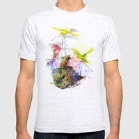 Flying Home (Glitch Remix) Mens Fitted Tee Ash Grey SMALL
