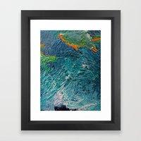 Ocean Depth abstract painting photograph Framed Art Print