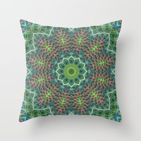 Fern Frond Lace Kaleidos… Throw Pillow