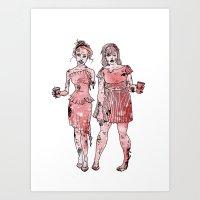 Zombie Bridesmaids Art Print