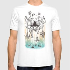 Octoluminary SMALL White Mens Fitted Tee