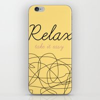 Relax Take It Easy iPhone & iPod Skin