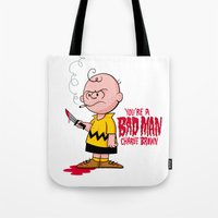You're a Bad Man Charlie Brown Tote Bag