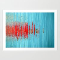 Slash Of Red Art Print
