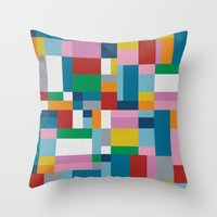 Map Tex Throw Pillow