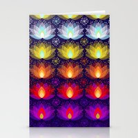 Variations on a Lotus I - Sparkle Brightly Stationery Cards