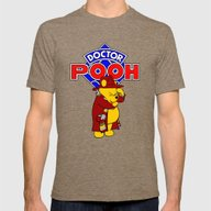 Doctor Pooh Mens Fitted Tee Tri-Coffee SMALL