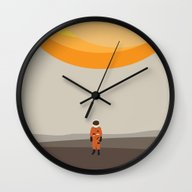 Wall Clock featuring Alone by Justin Cybulski