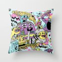 The Adventures of Rad Story Throw Pillow