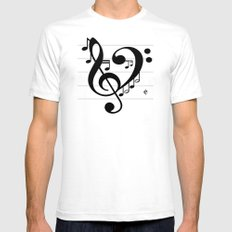 Love Music II Mens Fitted Tee SMALL White