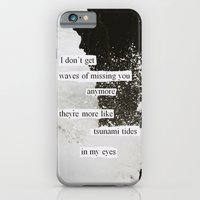 iPhone & iPod Case featuring tsunami tides in my eyes by Jordan Alanda